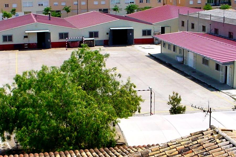 Vista aérea de las instalaciones del Centre Jovent situado en la calle Son Gibert, 8 de Palma.
